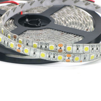Wholesale yellow strip lights resale online - Edison2011 LED Strip Light SMD Red Blue White Warm Yellow Green Single Color V RGB LED Light Waterproof Leds Free DHL