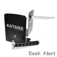 Wholesale Movies Culture - Wholesale-Free Shipping 1Piece Magnetic Katana Bookends With Hidden Brackets Ninja Optical Illusion Movies Geek Pop Culture Book