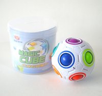 Wholesale Creative Spherical Magic Cube Speed Rainbow Ball Football Puzzles Kids Educational Learning Toys for Children Adult Gifts Hottest game