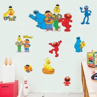 Wholesale Puppet Home - Wall Stickers Cartoon Puppet Background Decals For Kid Room Nursery PVC Non Toxic Mural Creative Home Decor 10mt J R