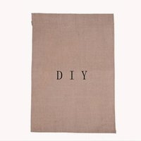 Wholesale Jute Burlap Garden Flags W H Inch H Liene Yard Hanging Flag House Decoration Printed Pattern Banner Ads ZA1892