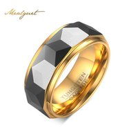 Wholesale Tungsten Rings Wholesalers Usa - Wholesale- Meaeguet Facet Cut Prism Tungsten Carbide Party Ring For Men Jewelry USA Size 7-12