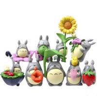 bonecas japonês figurines venda por atacado-(9 pçs / lote) Meu Vizinho Totoro Figura Presentes Boneca Nesin Miniatura Estatuetas Brinquedos 5 cm PVC Plactic Japonês Bonito Adorável Anime