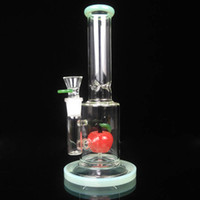18.8 mm erkek eklem camı donanımı toptan satış-11 '' Bongs Cam En İyi Kalite Cam Bong Su Boru Yağı Rig 18.8mm Erkek Ortak Elma Bubbler Su Bong