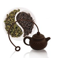 Wholesale High Tea Ceramic - HOT NEW High quality New Creative Silicone Tea Bag tea pot shape tea Filter Infusers safe clean 1 pcs