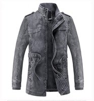 Wholesale Synthetic Flowers L - Men's Leather Jackets Autumn and Winter Black Leather Jacket For Men Faux Leather Coats PU Jackets Overcoats Free Shipping