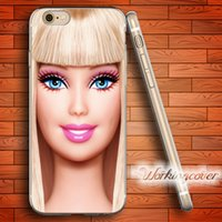 Wholesale Doll Silicone Case - Capa Pink Doll Toy Face Soft Clear TPU Case for iPhone 7 6 6S Plus 5S SE 5 5C 4S 4 Case Silicone Cover.