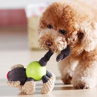 teddybär hundespielzeug großhandel-Hunde Spielzeug Muffle Sound Spielzeug Kleine Hunde Teddy Bobby Bären Bär Golden Puppies Großer Hund Biss Heimtierbedarf