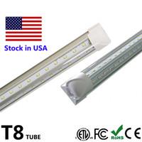 Wholesale Smd3528 Led Tube - LED Tube Light V Shape 8ft 72W T8 4ft 5ft 6ft 8 ft Double Side Power Cooler Door Lighting SMD3528 100LM W AC85-265V