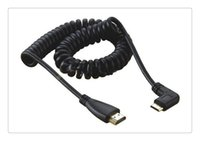 Wholesale Spring Hdmi - High Speed Mini HDMI to HDMI Spring elastic Curl Cable V1.4 3D for Sony Canon Camcorders strong Scalability