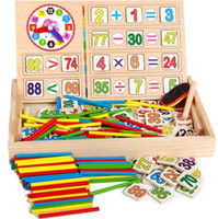 Wholesale Wooden Spindles - Wholesale- Preschool Spindles Wooden Montessori Mathematics Math Material Counting Toy for Kids Children Gift New