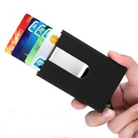 Wholesale Automatic Wallet - Wholesale!! High Quality metal credit card holder Automatic card sets business aluminum wallet card wallet passport holder