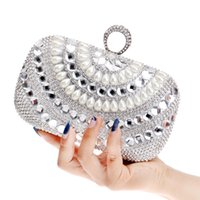 Wholesale Clutches For Wedding - 2016 Newest small purse bags diamonds chain shoulder messenger bag day clutches evening bag for wedding party dinner handbags