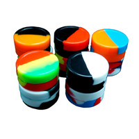 Wholesale large silicone - FDA approved 22ML large round Silicone Container, Non Stick Slick -Rich Colors for wax