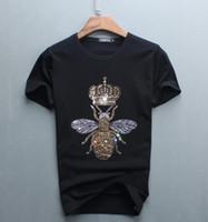 lustiges entwurfst-shirt großhandel-Luxus Diamant Design Kurzarm T-Shirt Männer lustige Marke Baumwolle Tops und T-Shirts