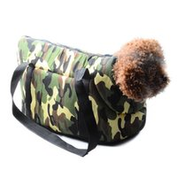 Porte-chien Coton Pas Cher-S / L Pet Dog Dog Carrier Canvas Cotton Sac de voyage en plein air pour sac de chien de chien Camouflage Carrier Breathable Pet Supplies