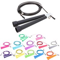 Wholesale Crossfit Speed Ropes Wholesale - 13 Colors Adjustable Skipping Rope 3M Speed Steel Wire Skipping Jump Rope Crossfit Crossfit MMA Box Gome Gym Fitnesss Equipment