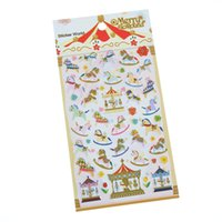 Wholesale Envelope Memo Pads - Wholesale- 1 X Funny Sticker Diy Notebook Merry Go Round Emotion Photo Album Envelope Scrapbook Memo Pad Pvc Sticker