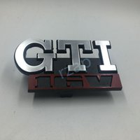 Wholesale Grille Grill - GTI 16V Car Grille Badge Fit For Volkswagen GTI GOLF MK2 MK1 Grill Chrome Auto Emblem