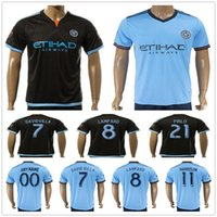 Wholesale Men Mixed Shirt - New York City Soccer Jersey DAVID VILLA LAMPARD MIX PIRLO MCNAMARA HARRISON Blank Customize Any Name Number Football Shirt Kit Uniform