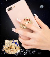 Wholesale Diamond Mobile Phone Stand - 360 Degree Cute Diamond Rhinestone bling universal Finger Ring Mobile Phone Smartphone Stand Holder For iphone sumsung