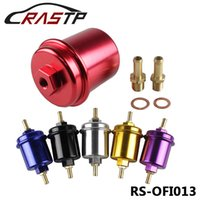 Wholesale RASTP Universal JDM Aluminum High Flow Performance Fuel Filter Washable Filter RS OFI013
