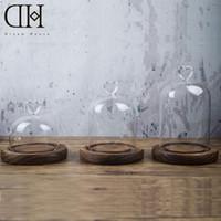 Wholesale Wholesale Glass Bells - DH glass shade Miniature decoration glass dome glass terrarium decoration figurine bell slass decor home decoration accessories