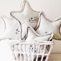 Wholesale Lovely Stuffed Toy - Wholesale-Free Shipping Baby Bed Decoration Glow In The Dark Lovely Star Stuffed Plush Cushion Pillow Kawaii Toys Dolls Gifts For Kids