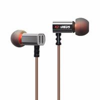 Wholesale Transparent Earphones - KZ ED9 Heavy Bass Earphone HIFI In Ear Headphone Fone de ouvido Transparent Sound Stereo Earplug Noise Isolating HiFi Earphone