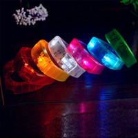 LED Light Up Bracelet Unisex Sound Controlled Led Wristband ativado Glow Flash Bangle para Bar Dance Concert Festival Party Wholesale