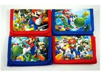 Wholesale Mario Wallets - Hot Sale!48pcs popular Cartooon Style Super Mario Kids Boys Various Stocking Filler Wallet Purse Coins Bag