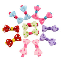 "Wholesale Toddler Hair Barrettes - Hot Selling 1.7"" Cute Ribbon Hair Bows With Clip Baby Girl Boutique Hair Bows Toddler Hairpin Baby Hair Accessories"