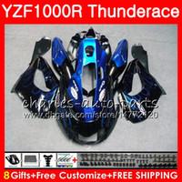 yamaha yzf thunderace al por mayor-Cuerpo para YAMAHA Thunderace YZF1000R 96 97 98 99 00 01 07 84HM1 YZF-1000R YZF 1000R 1996 1997 1998 1999 2000 2001 2007 Carenado llamas azules