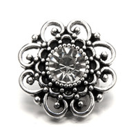 Wholesale Mm Holidays - 10pcs 18 mm snap button, archaize rhinestone hollow out show different charm, fashion jewellery as a festival best gift