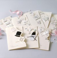 Wholesale White Paper Envelopes - wedding invitations cards wholesale elegent white invitaitons paper cards 8 styles for choose with envelope hiqh quality