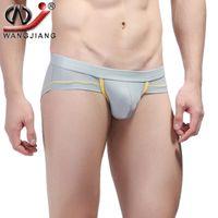 Wholesale Tight Shorts Panties - WJ Men Sexy Briefs Shorts Wangjiang Tight Mens Underwear Panties Low Waist Boxer Briefs Jockstraps Male Shirti Slip Hombre 4007-XSJ