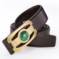 Wholesale Designer Gems - Fashion Gems Belts For Men 2017 New Arrival Brand Designer Luxurious Genuine Leather Belt Smooth Buckle
