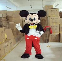Wholesale Minnie Mouse Costumes For Adults - 2017 hot Mickey Mouse Mascot Costume Mickey Mascot Costume Fancy Mickey Minnie Mascot Costume for Adult People
