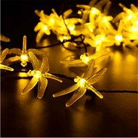 Solar Powered Outdoor String Lights Libélula, 6M / 19.7ft 30 Leds Starry Lighting decorações de natal para casa Garden Light
