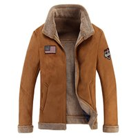 Wholesale Force Leather Jacket - Wholesale free shipping Men's Air Force Bomber Basic Coats & Jackets Winter Man Thick Leather Jacket for Men Clothing Me