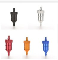 Wholesale 100PCS Aluminum Oil Gas Fuel Filter for Dirt Pit Bike ATV Quad Go KartrMoped Scooter Buggy Motorcycle Accessories Gasoline Oil Filter