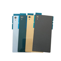 Wholesale Xperia Battery Cover - For Sony Z4 Back Glass battery Cover For Sony Xperia Z5 Z3+ Z3 Plus E6553 Battery Back Door Cover Case housing With logo free shipping