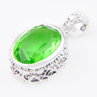 Wholesale Rhinestone Pumpkin - Pumpkin Day Beautiful Flower Antique Silver Grass Green Quartz Floating Pendant