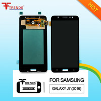 Wholesale Hd Lcd Display - High Quality AMOLED HD A+++ Black White Gold Samsung Galaxy J7 2016 J710 J710F J710FN LCD Display Touch Screen Digitizer with Repair Tools