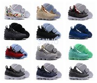 Wholesale Shoes Zipper Flower - With Zipper James 15 Ghost Mens Basketball Shoes Top Quality Cheap Sale LBJ 15s XV EP Wolf Grey Flowers Airs Cushion Sports Sneakers