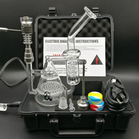Wholesale Dry Herbal - 2017 New Arrival Pelican E Digital Dab Nail Kit Dry Herbal Wax Box Vaporizer Kit work with Dab rigs glass oil rig bong