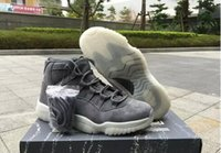 Wholesale Retro Wine Cooler - 2017 Mens jumpman basketball shoes Retro 11 cool grey 11 Suede Wine Red Grey Basketball Shoes Out Door Sports Sneakers for Men