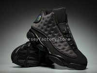 Wholesale Satin Fabric For Sale - (With Box) Wholesale Cheap New Air Retro 13 OG Black Cat Basketball Shoes 3M Reflect All Black 13s jumpman Trainer Sneakers For Sale US 8-13