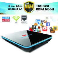 Wholesale New Model Android - Stream TV Box Internet Android 7.1 fullyloaded RKMC 17.1 Media Player TV Box DDR4 3GB eMMC 16GB Amlogic S912 R-TV Pro Best New Model 2017