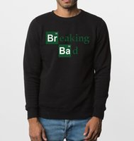 Wholesale Breaking Bad Hoodies - Wholesale-2016 new autumn winter fashion sweatshirts BREAKING BAD letter print men hoodies hip hop style streetwear top brand clothing